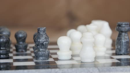 králové : Playing chess on the marble chess board