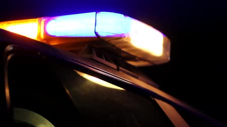 reflektor : Police Lights on Top of Car at Night