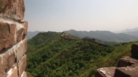 onarılmış : incredible ancient section of the great wall of china beijing mutianyu sectio