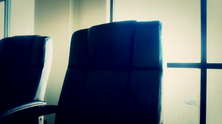 conferência : office conference room chairs dolly shot