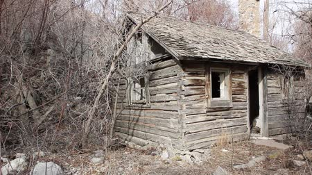 abandoned old : Old burned cottage Stock Footage