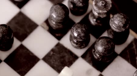rytíř : Old Marble Chess Game Set Dolly