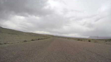 řídit : Pov timelpase of driving a car through a Utah desert