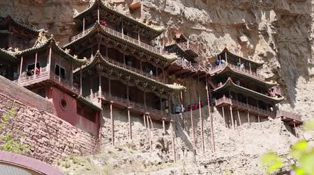 budha : the hanging temple monastery at datong china dolly shot