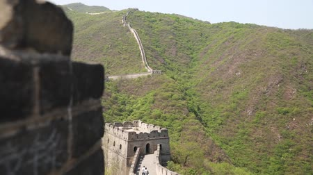 great wall of china : the incredible great wall of china beijing mutianyu with tourists