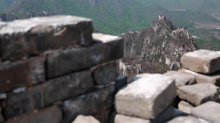 onarılmış : the jiankou section great wall of china near beijing Stok Video