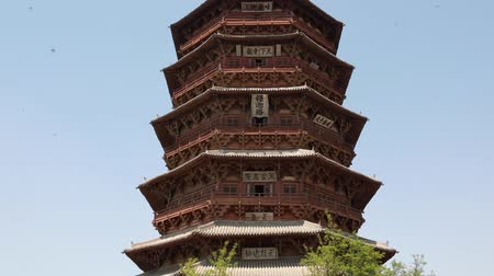 пагода : the pagoda of fogong temple in datong china