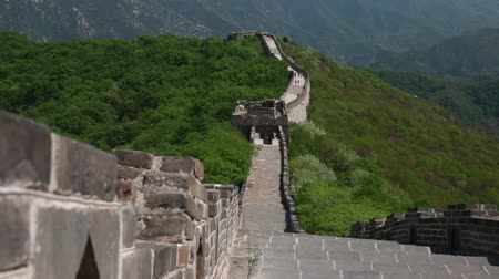 mutianyu section : the wall along the great wall of china beijing jiankou section Stock Footage