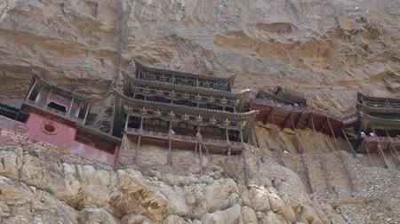 budha : visiting the hanging temple monastery in datong china