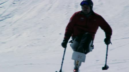 лыжник : A quadriplegic skier at a mountain resort