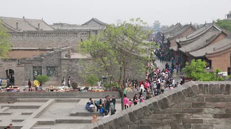 zametání : the city of pingyao in shanxi province china is an ancient walled chinese city untouched by modern culture and architecture.