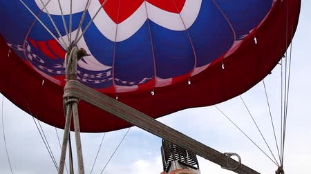 propane : Flame inside large hot air balloon Stock Footage