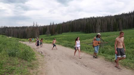 hippie : people come together at the annual rainbow gathering in heber city utah 2014