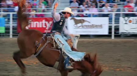chapéu : Riding a saddle bronc at the rodeo