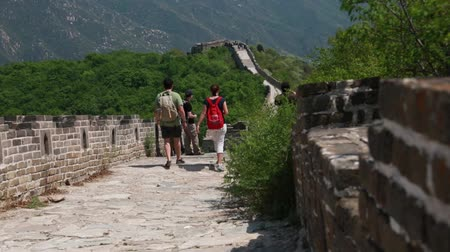 parede : the jiankou section of the great wall of china in near beijing.  man made wonder of the world.