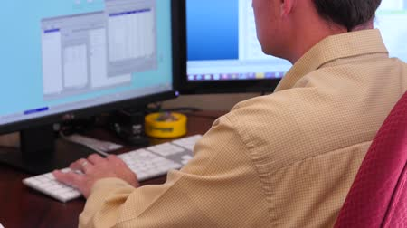 yöneticiler : A male working on a computer in his office
