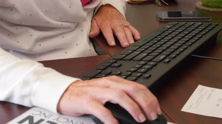 executivo : A secretary typing on her keyboard in an office Stock Footage