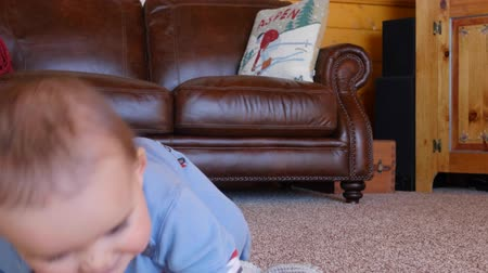 otcovství : Adorable baby boy crawling on the floor and playing with toy Dostupné videozáznamy