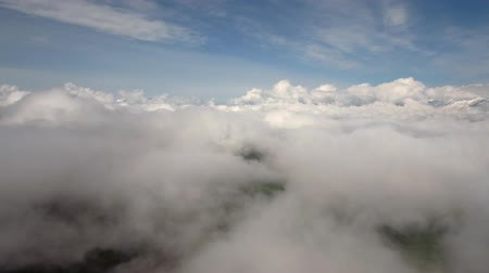 beautiful view : Aerial above the beautiful clouds in the morning sun