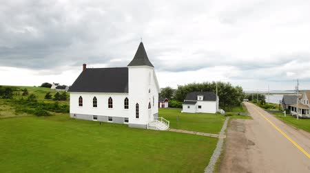 cape breton : Aerial shot of a beautiful church in Cape Breton Nova Scotia