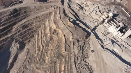 nevada : An aerial shot of a large mining pit and industrial plant