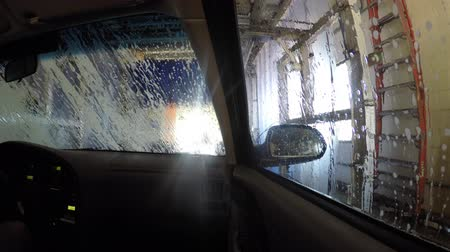 aeróbico : An interior of a car being cleaned in a car wash