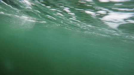 zodiak : An underwater shot of bubbles passing by while in the boat