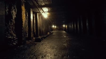 eixo : Camera traveling through a coal mine at glace bay