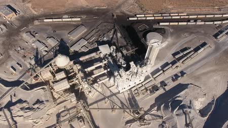яма : Cool high aerial shot of large industrial mining plant