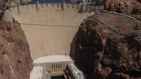 nevada : Hover Dam on the Colorado River at lake Mead panning shot Stock Footage