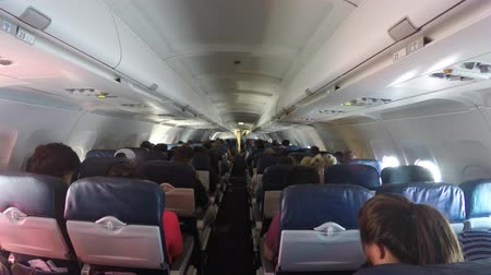 ailelerin : People on a big commercial airplane in flight