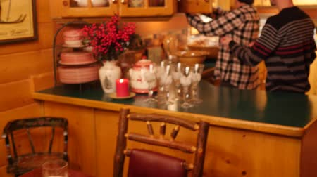 setting : Table set for a fun christmas dinner