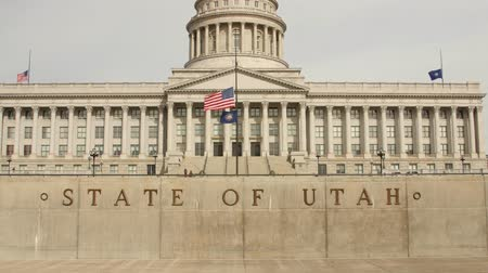 kolumna : The Utah State Capitol building in Salt Lake