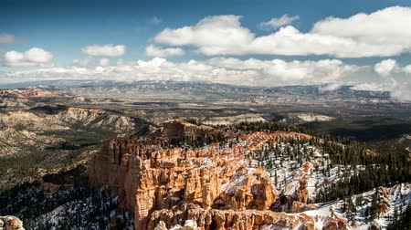 martelo : Timelapse a beautiful snowy bryce canyon national park