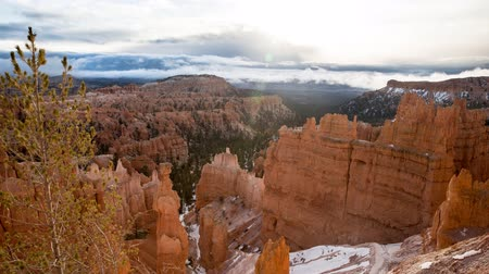 fennsík : Timelapse of beautiful snowy bryce canyon national park