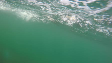 cape breton : Underwater shot of bubbles passing by while in a boat Stock Footage