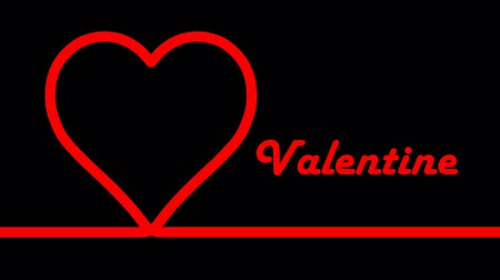 eternal : Red hearts with valentines day  on black background Stock Footage