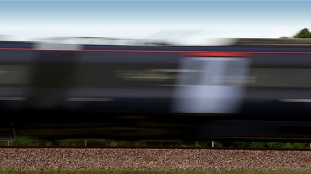 mph : 00:00  00:06 1  High speed train passing by Stock Footage