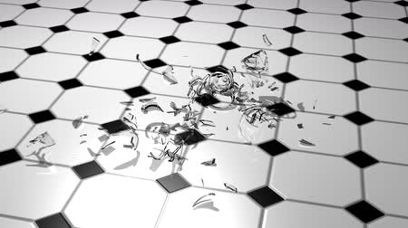 copas de vino : Shattering Wine Glass 3D Archivo de Video
