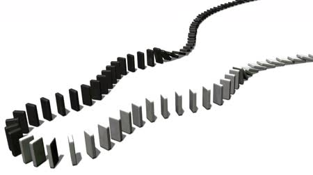 empilhamento : Black and White Falling Dominoes