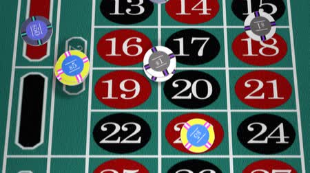ruleta : Ruleta Apuestas de mesa Chip (HD) Archivo de Video