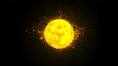 солнечный : Sun Burning Loop (HD). 3D Animation of a burning Sun or Star ejects solar material in flares simulating thermonuclear reactions. The clip loops perfectly so you can repeat it.