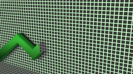parede : Upside Trend Animation (HD). Animation of a green positive arrow growing on top of a grid. After it disappears it loops to the beginning. Vídeos
