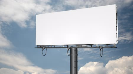publicity : Blank Billboard with Moving Clouds (HD) Stock Footage