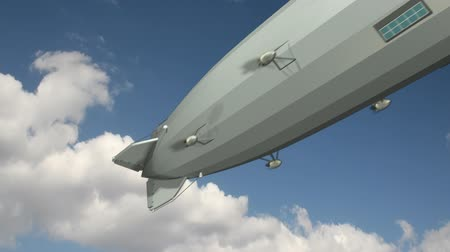mode : Zeppelin Blimp Animation (HD) Stock Footage