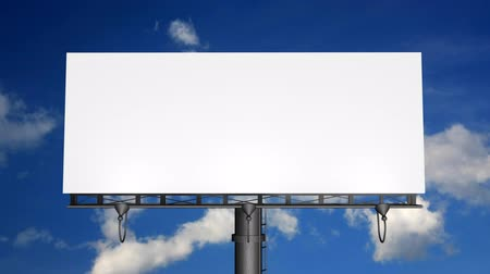 publicity : Blank Billboard With Moving Clouds (HD)