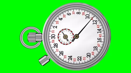 cronômetro : Chronometer Stopwatch with Green Screen (HD). Vintage original design of a metallic chronometer and a green screen background for easy use. Original recorded audio also included.