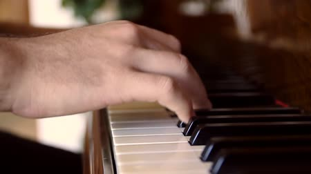 piyano : Piano Playing Slow Motion (HD). Male hands playing piano keys in slow motion. Ad your own music on top. Shot at 60p and slowed to 24p.