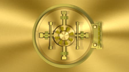 bank : Bank Vault Door Gold Transition (HD). 1080p formated transition of a bank vault opening and camera following inside NOTE: You can reverse the clip to get the opposite effect of closing. Audio included