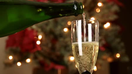 cintilante : Champagne Glass Being Served Christmas Background